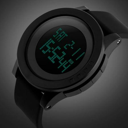 Multifunction Stopwatch - Digital Waterproof Sports Watch Electronic Military LED Sport Running Watch Multifunction Wrist Stopwatch