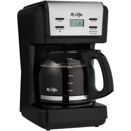 Mr. Coffee 12 Cup Programmable Coffee Maker, Black