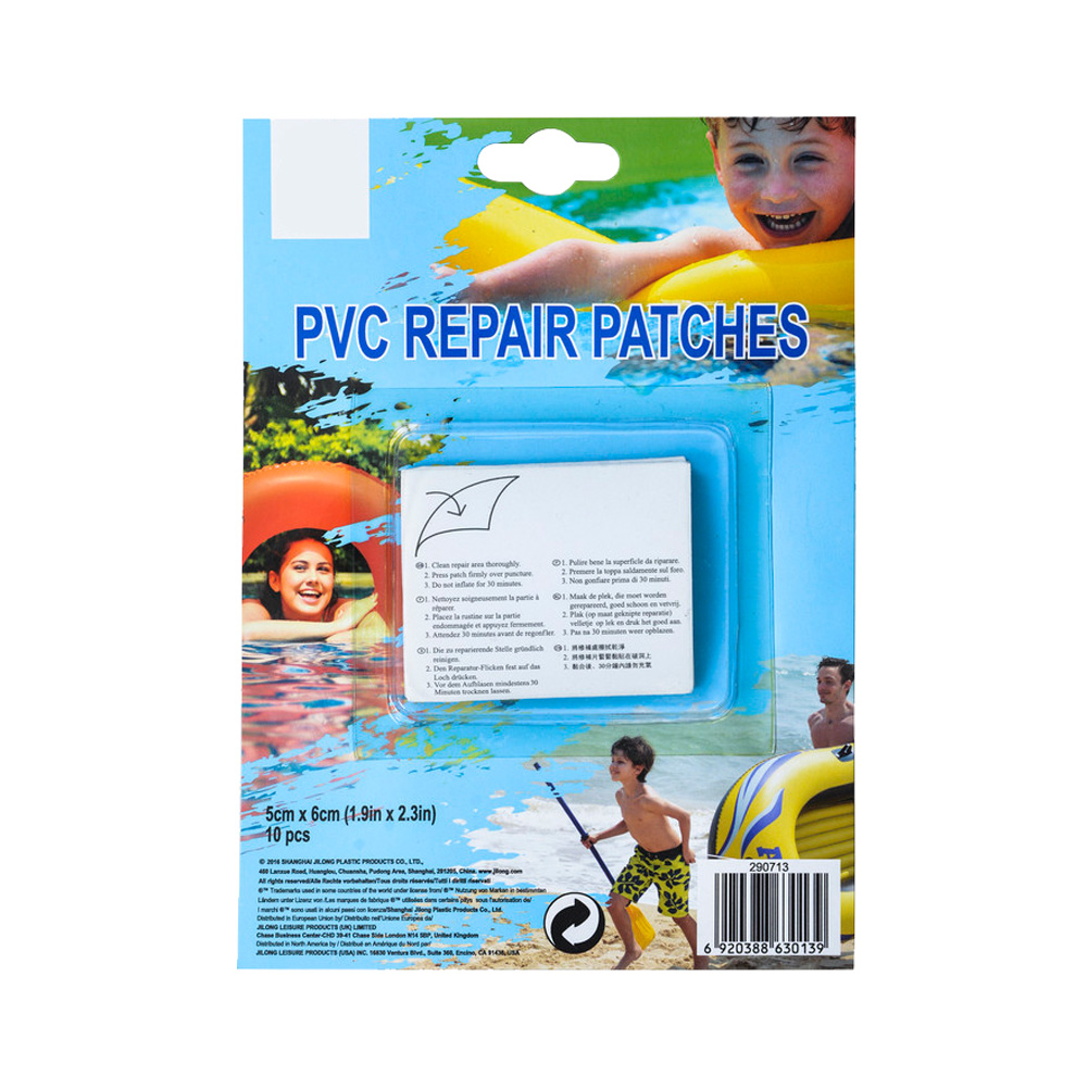 Olgaa 50PCS Vinyl Repair Patches Self-Adhesive PVC Patches Waterproof Patches for Swimming Pools Inflatable Products