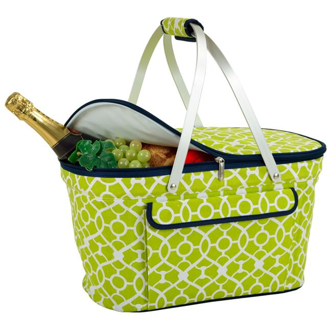 Picnic at Ascot 400-TG Trellis Green Collapsible Insulated Basket - Trellis Green