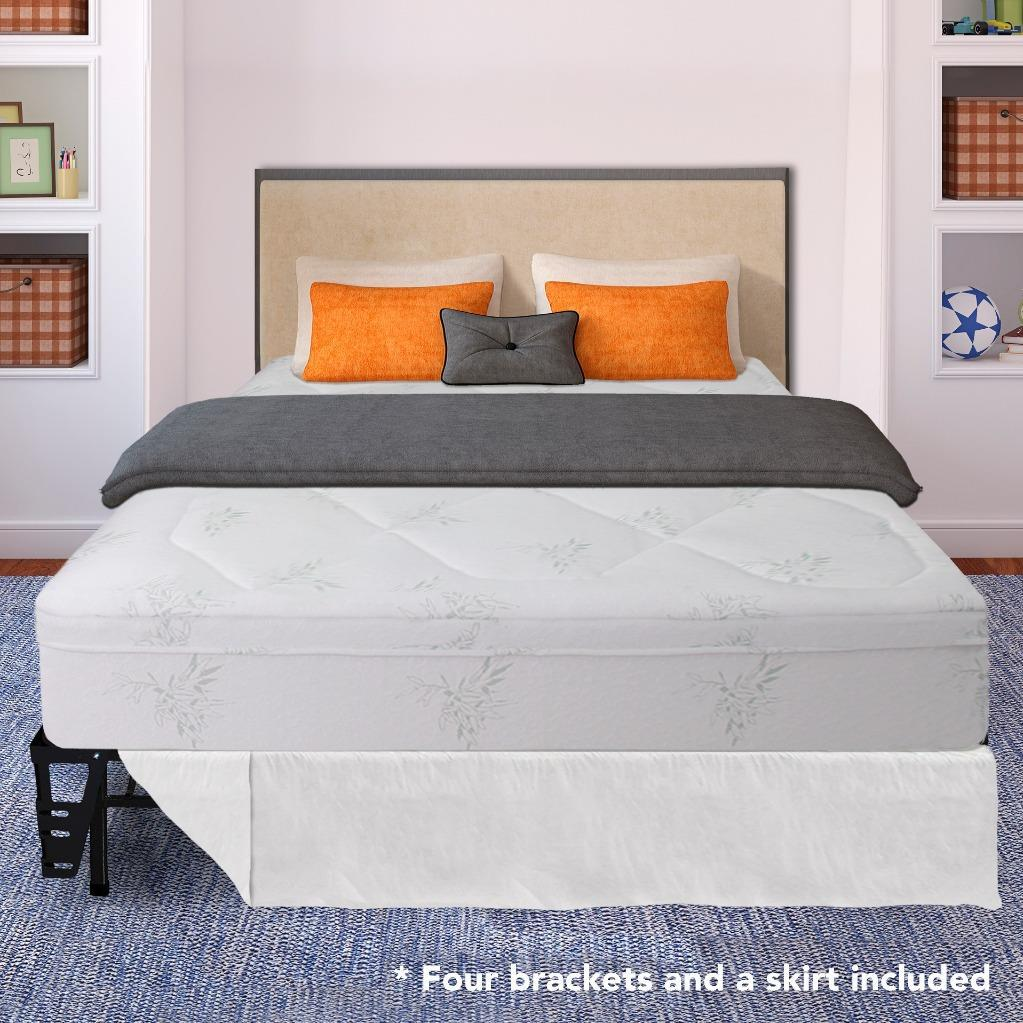 Best Price Mattress 12 Inch Grand Memory Foam Mattress and Bed Frame Set with Brackets and Skirt Multiple... by Best Price Mattress