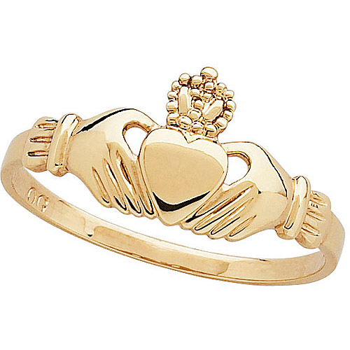 18kt Gold-Plated Claddagh Ring