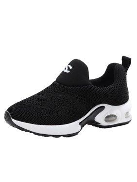 Boys Girls Sport Running Shoes Comfortable Fashion Lightweight Kids Sneakers Slip on Cushion(Toddler kids/Little kids)