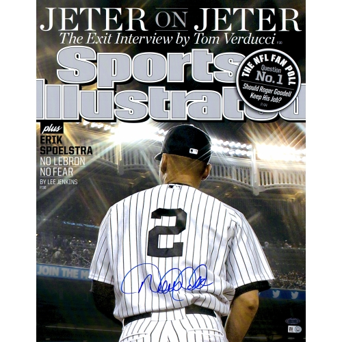 "Derek Jeter New York Yankees Steiner Sports Autographed 16"" x 20"" Jeter on Jeter Spots Illustrated Magazine Cover Photograph - No Size"