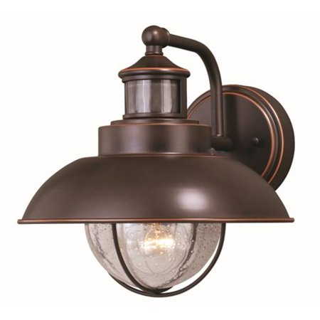 Vaxcel International T0263 10 in. Harwich Dualux Outdoor Wall Light, Burnished Bronze