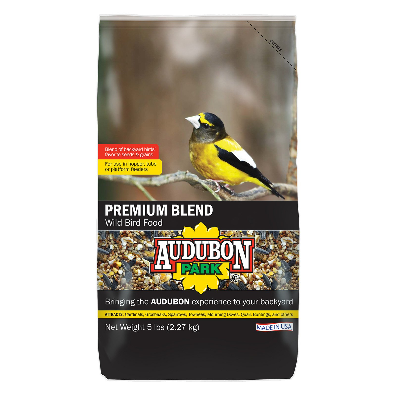 Click here to buy Audubon Park 12225 5 Lb Premium Wild Bird Food by Global Harvest/woodinville.