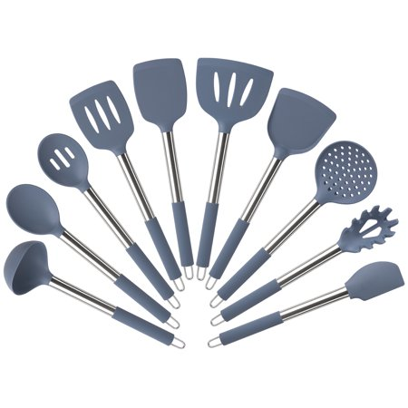Mainstays 10 Piece Silicone Utensil Set - Blue Moonlight