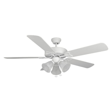 Craftmade BLD52MWW5C3 Builder Deluxe 52 in. Indoor Ceiling Fan - Matte White ()