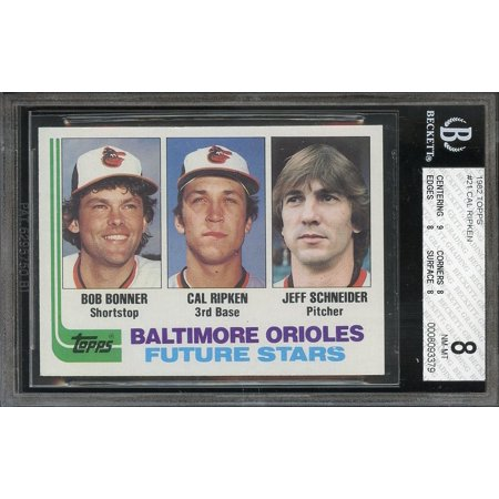 1982 Topps 21 Cal Ripken Jr Baltimore Orioles Rookie Card Bgs 8 9 8 8 8