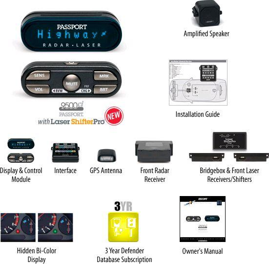 ESCORT Full Feature Remote Mounted Radar Detector by Escort