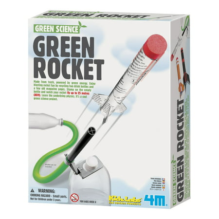 4M KidzLabs Green Science Green Rocket Kit