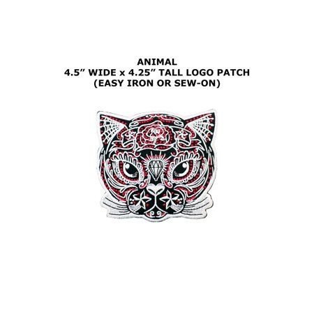 Halloween Cat Diamond Tattoo Embroidered Iron/Sew-on Cartoon Theme Logo Patch/Applique - Halloween Themed Arts And Crafts