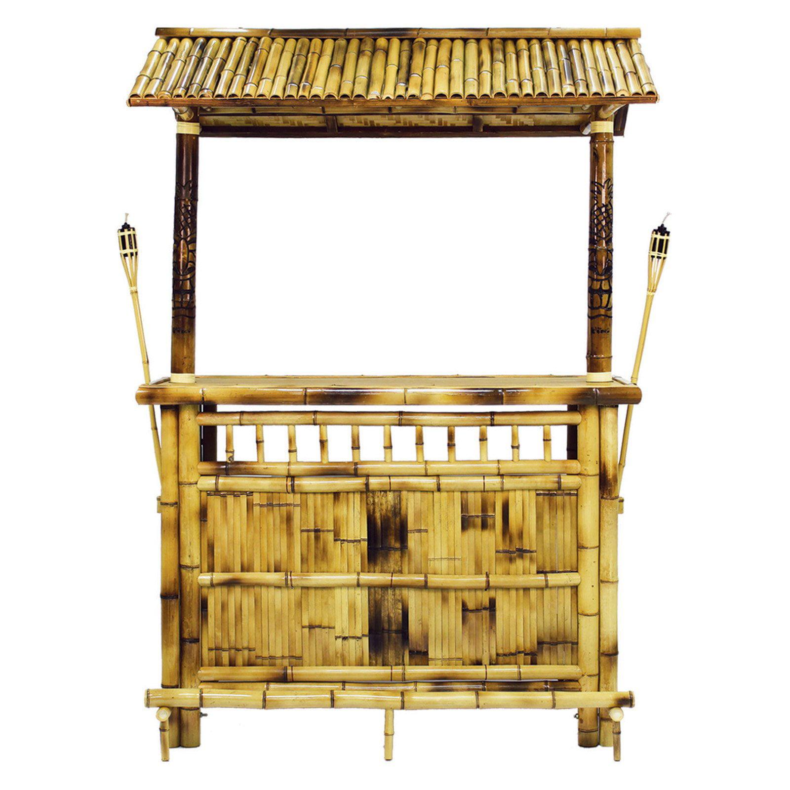 RAM Game Room Indoor/Outdoor Bamboo Tiki Bar