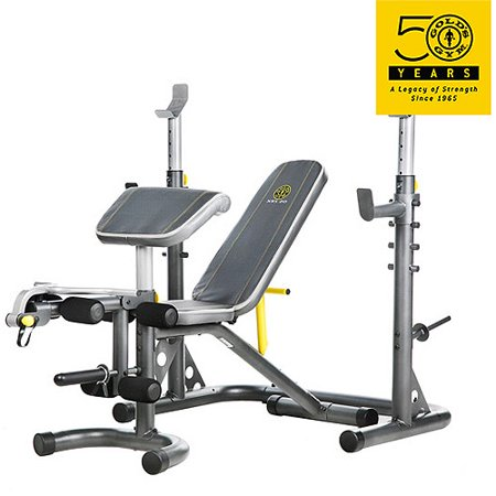 Gold 39 S Gym Xrs 20 Olympic Workout Bench With Squat Rack