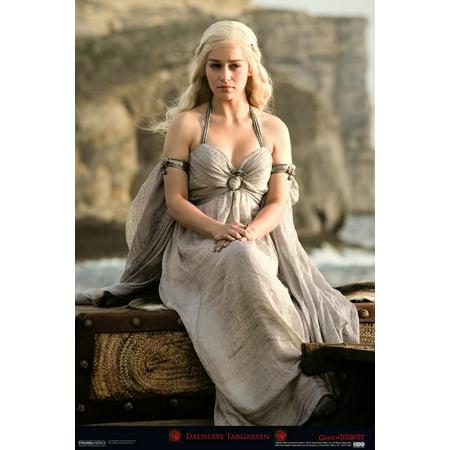 Game Of Thrones Daenerys Targaryen Hbo Television Poster   12X18