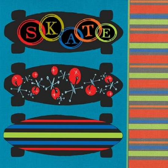 Skateboard II Poster Print by Shanni Welsh