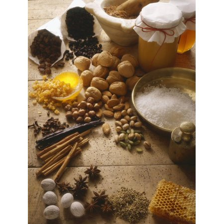Ingredients for Christmas Baking Print Wall Art By Eising Studio - Food Photo and