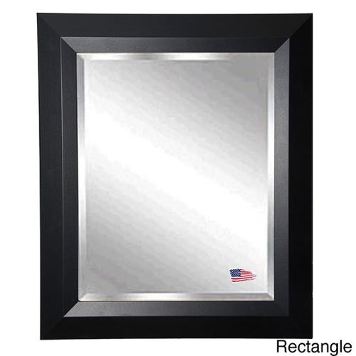 American Made Rayne Black Angle Wall Mirror 41.5 x 35.5