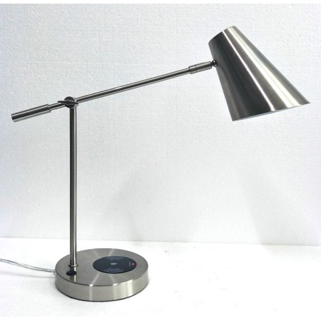 Better Homes & Gardens Wireless Charging Lamp-Brushed Steel