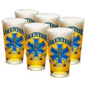 EMT 16 oz. Pint Glass Volunteer EMS (Case of 12) by Erazorbits