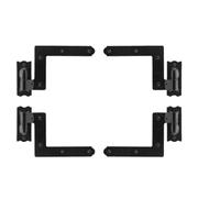 "EZ-Set 489200 5"" x 4.25"" Iron Decorative Plain Bearing Surface Mount Shutter Hin"