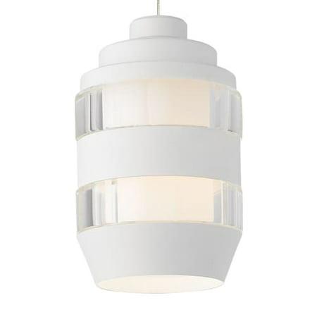 Tech Lighting 700mpakdcw Akida 1 Light Pendant With Matte White Optic Crystal Cy