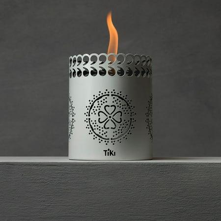 TIKI® Brand 6-inch Clean Burn FlameShield® Tabletop Torch Lantern White](Tiki Lanterns)