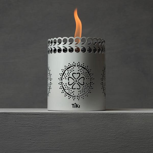 TIKI® Brand 6-inch Clean Burn FlameShield® Tabletop Torch Lantern White