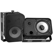 6.5'' Indoor/Outdoor Waterproof Speakers (Black)