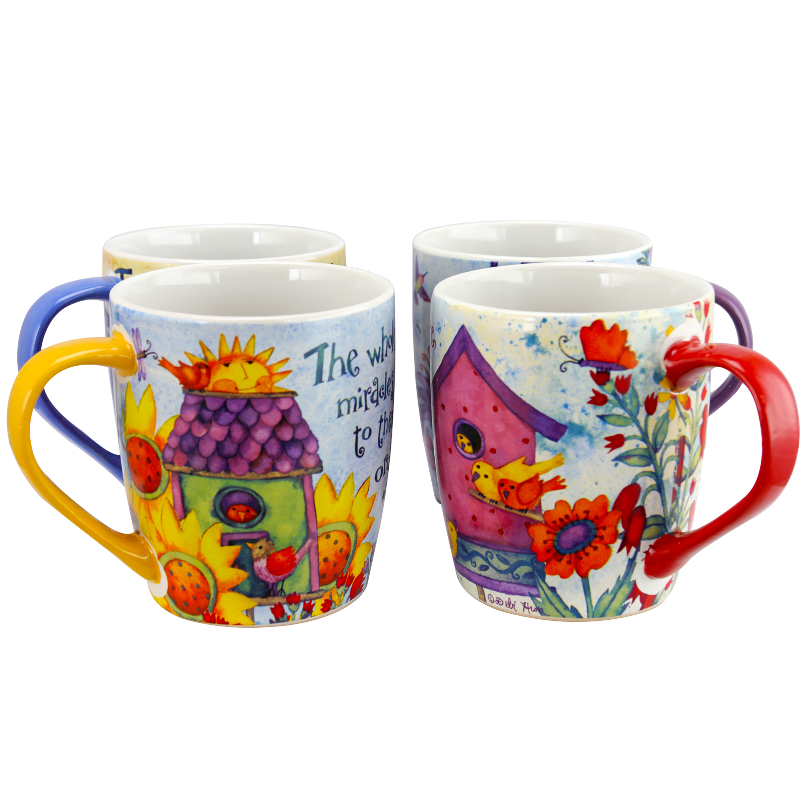 18 oz Cup Set, Set of 4 Assorted Designs