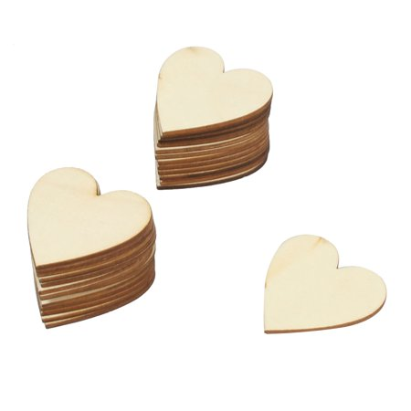 Heart Shaped Horse Head (Wedding Party Wooden Love Heart Shaped Hanger Decor DIY Handcraft 25pcs)