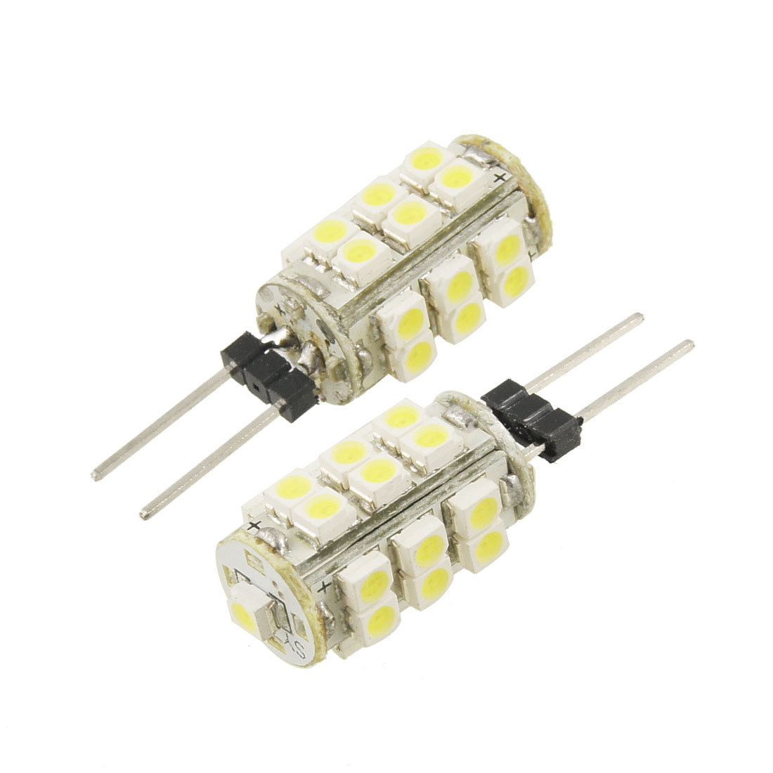 Unique Bargains Unique Bargains 2 x White 1210 SMD 25 LED Lamp G4 Back Pin Lights Bulbs for Car new
