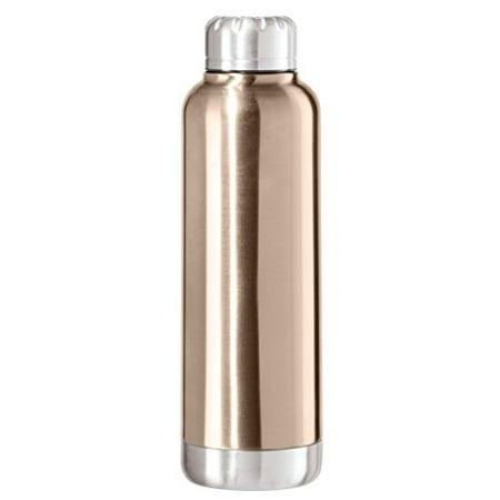421fa8200b3 Oggi Double Wall Sealed Stainless Steel Sport Bottle Screw Top Champagne  8070.4 - Walmart.com