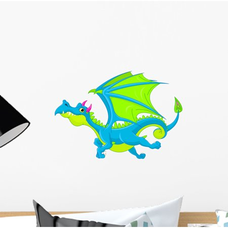 Flying Dragon Peel (Flying Dragon Wall Decal Sticker by Wallmonkeys Vinyl Peel and Stick Graphic for Girls (12 in W x 8 in H))