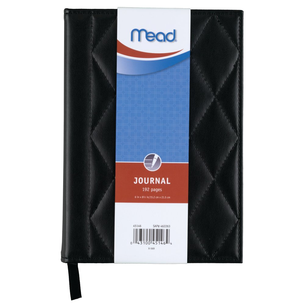 Acco Brands Mead Leather Topstitch Journal Assorent