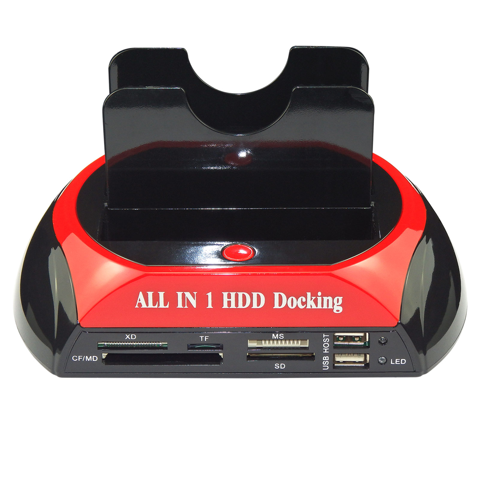 "New HDD Docking Station 2.5"" 3.5"" IDE SATA Dual USB Clone Hard Drive Card Reader"