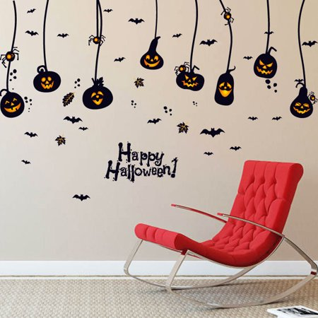 Happy Halloween Mural (Happy Halloween Household Room Wall Sticker Mural Decor Decal Removable)