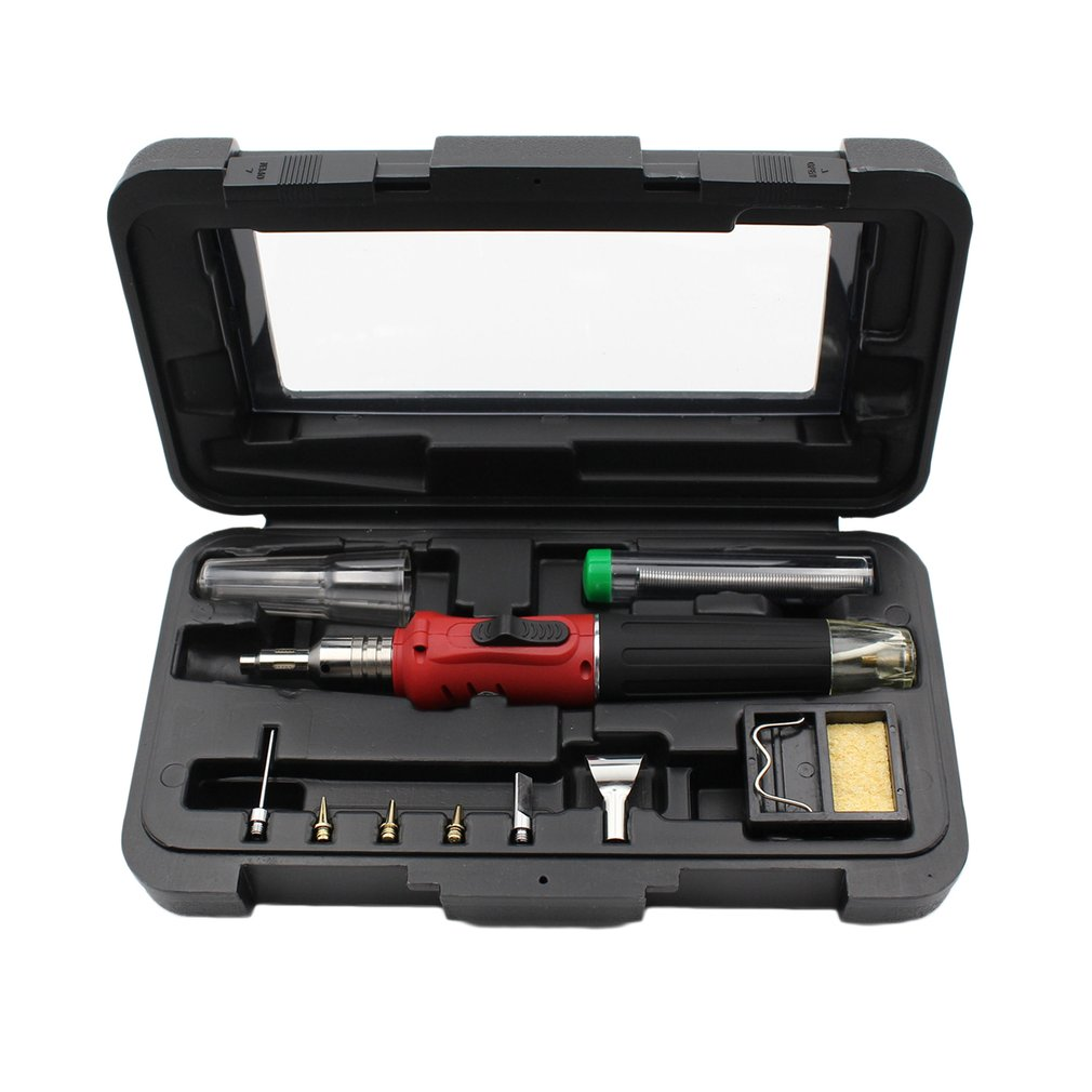 10 in 1 HS-1115K Electronic Ignition Gas Soldering Iron Kit Solder Welding
