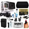 GoPro Hero 4 HERO4 Silver Edition 4K Action Camera Camcorder with 32GB MicroSD Card, Stabilization Hand Grip, Extra Battery, Home and Car Charger, Medium Case, HDMI, Dust Cleaning Care Kit