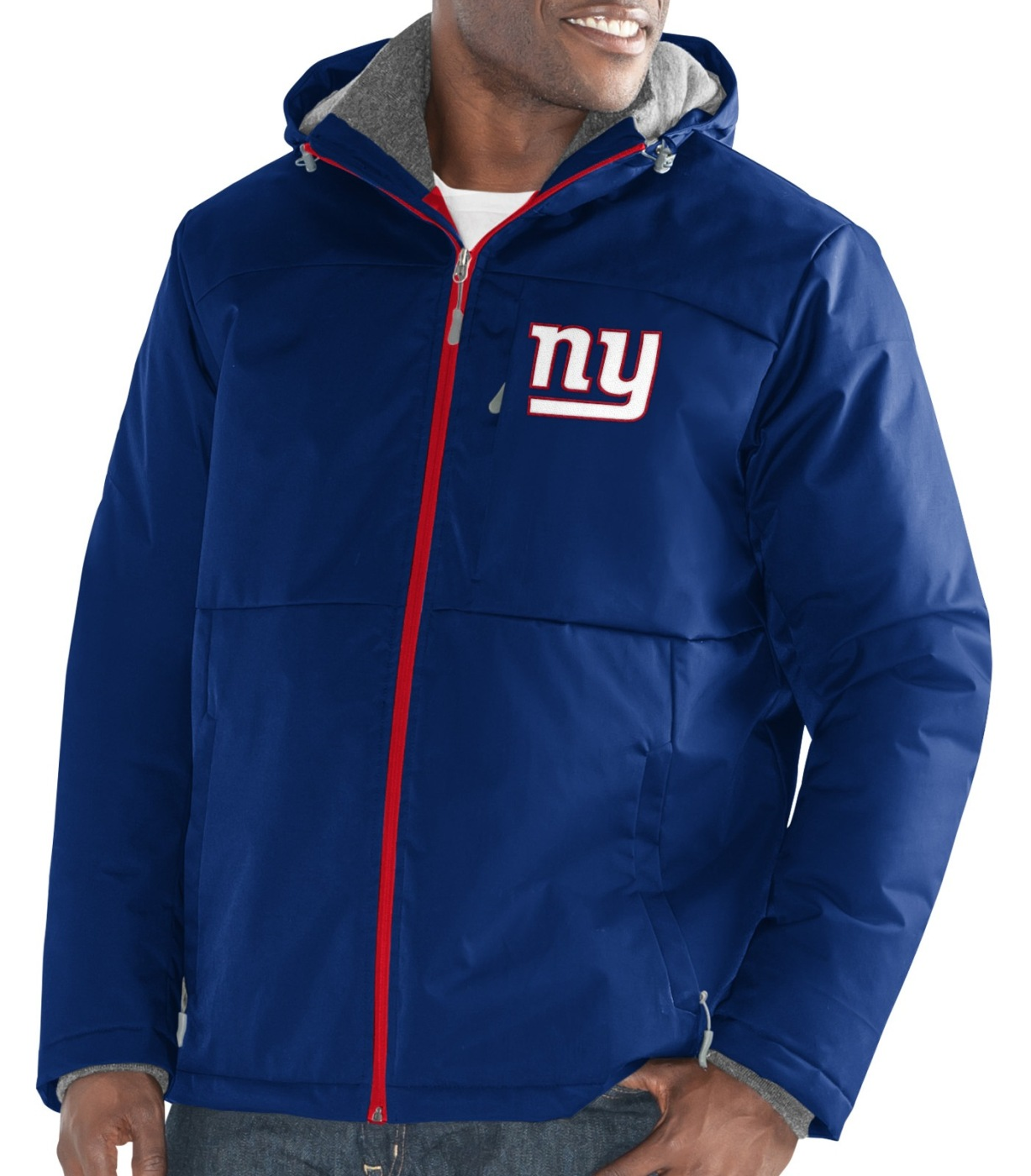 "New York Giants Men's NFL G-III ""Points"" Full Zip Polyfill Dobby Jacket by G-III Sports"