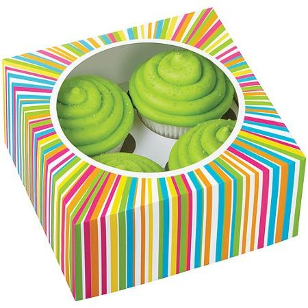Wilton 4 Cavity Colorwheel Cupcake Box, 1 Ct