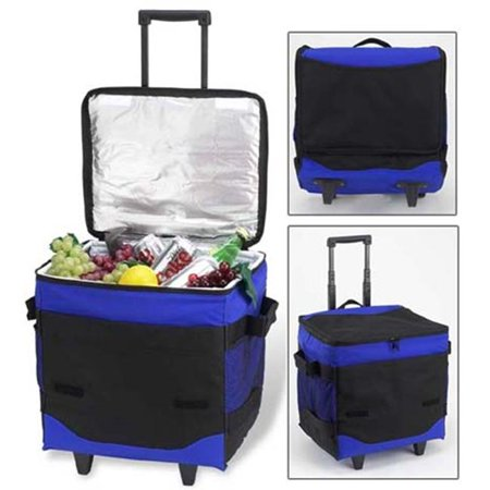 8e093f850cb2 Picnic at Ascot 396-RB 60 Can Collapsible Rolling Cooler in Royal Blue