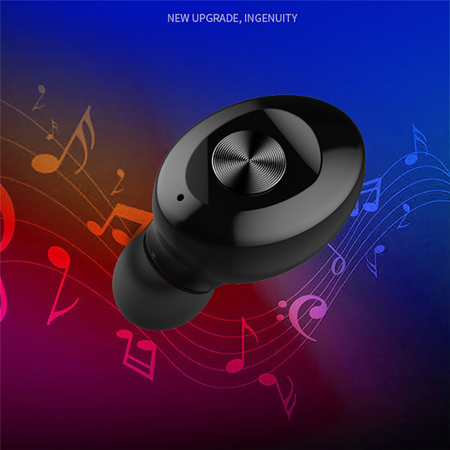 Wireless Bluetooth Stereo Headphone. Bluetooth V5.0 Earbud. Waterproof Sports Headset (Single+USB charging) - image 6 de 13
