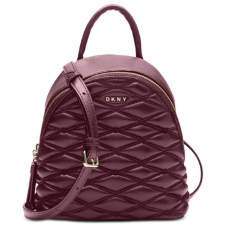 Donna Karan Lara Mini Backpack Crossbody Cordovan
