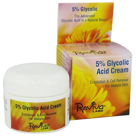 Reviva 5  Glycolic Acid Facial Cream For Mature Skin   1 5 Oz  6 Pack