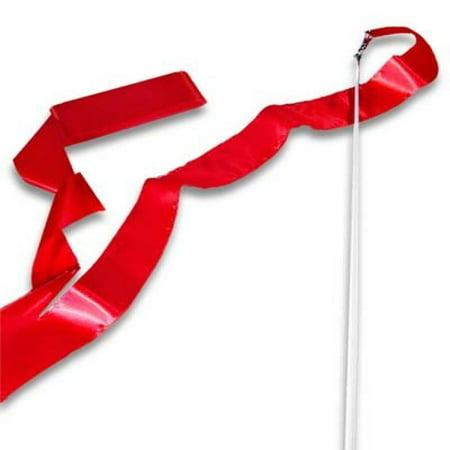 Red Gymnastics Ribbon Wand (Cheap Ribbon Wands)