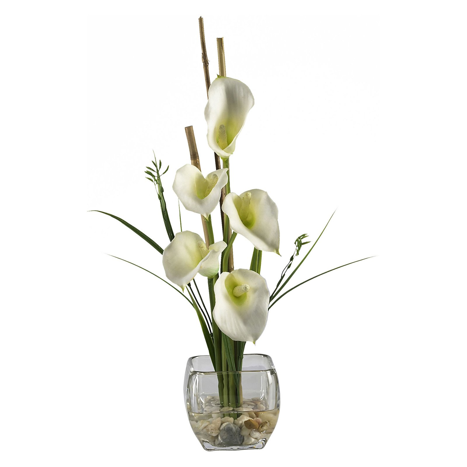 Peony silk flower arrangements calla lilly liquid illusion silk flower arrangement cream izmirmasajfo