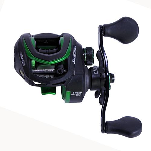 Lews Fishing Mach Speed Spool MCS Casting Reel 7.5:1 Gear Ratio, 11 Bearings, 10 lb Max Drag, Left Hand by Lews Fishing