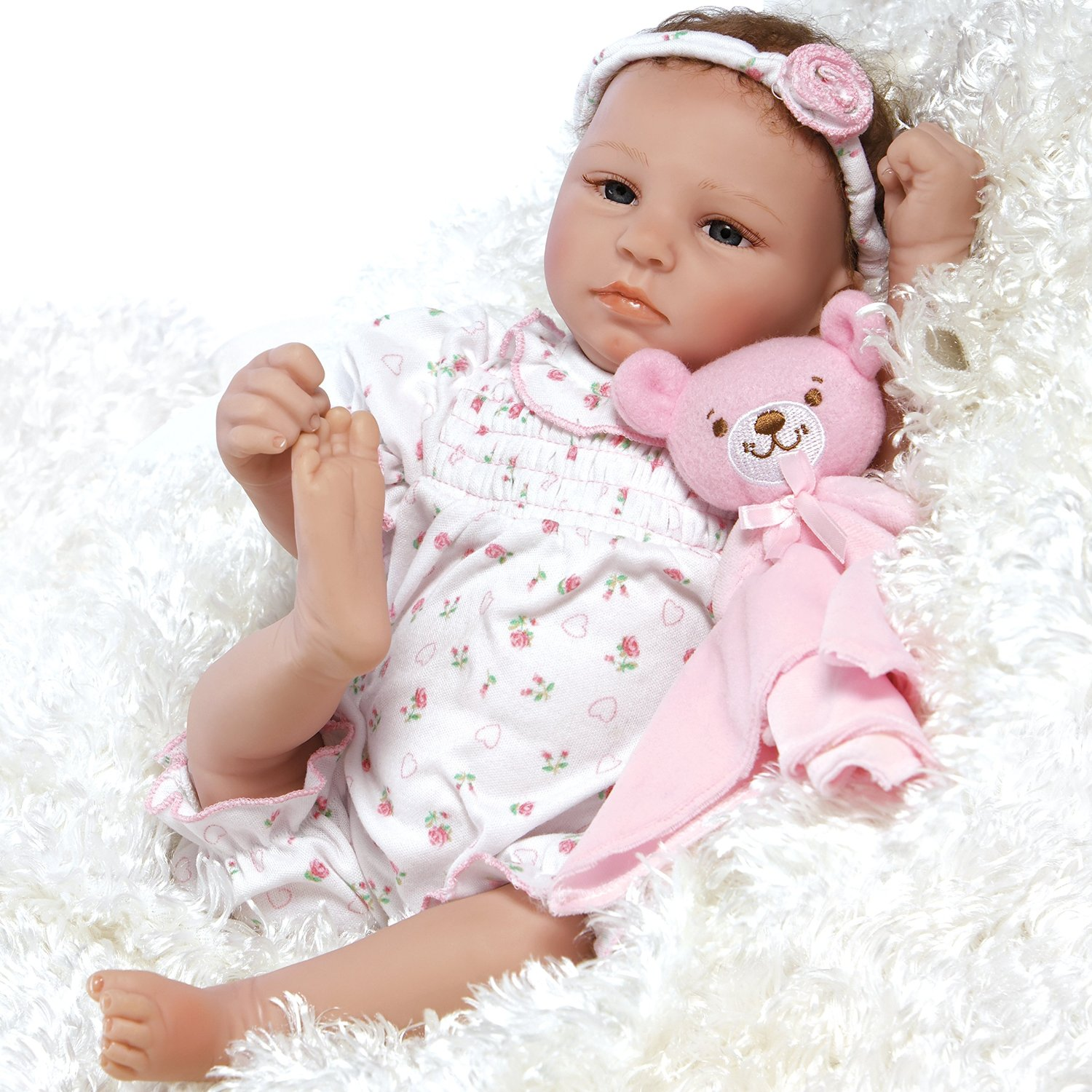 "Paradise Galleries Lifelike Realistic Soft Vinyl Weighted 20 inch Baby Girl  Doll Gift ""Bundle of Joy"" Great to Reborn"