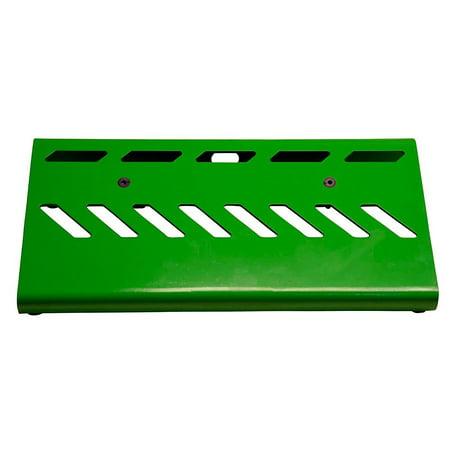 Gator GPB-LAK Lightweight Aluminum Pedal Board with Carry Bag, Screamer Green